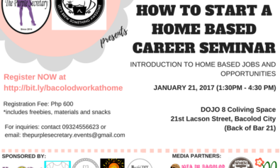 Home based career seminar to be held on January 21 | Mea in Bacolod