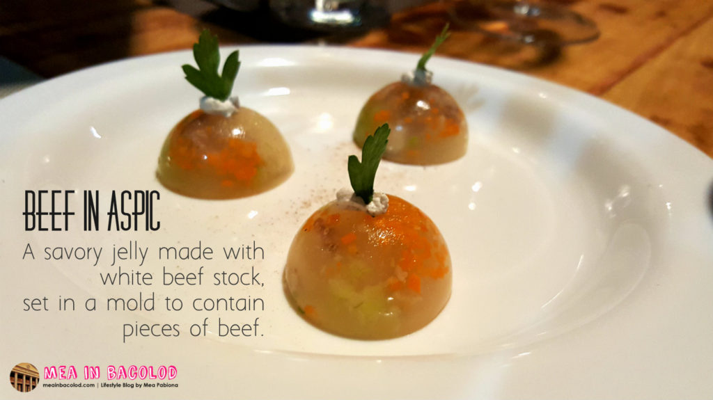 Bacolod Academy for Culinary Arts - Menu 1: Beef in Aspic