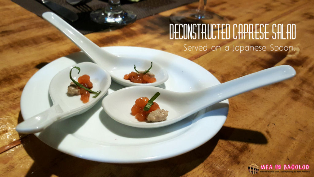 Bacolod Academy for Culinary Arts - Menu 3: Deconstructed Caprese Salad   Mea in Bacolod