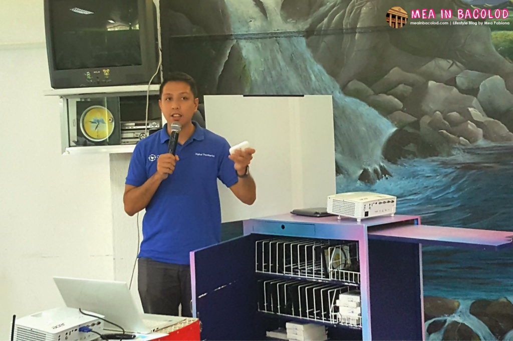 Miguel Bermundo   Pillar Leader for Education Speaking About the Mobile ICT Cart   Mea in Bacolod