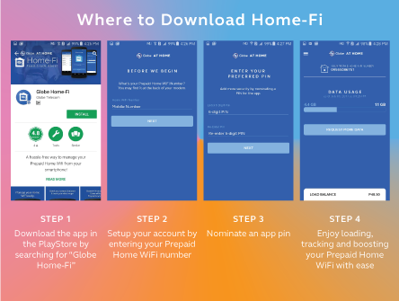The new Globe At Home app allows you to monitor your Prepaid