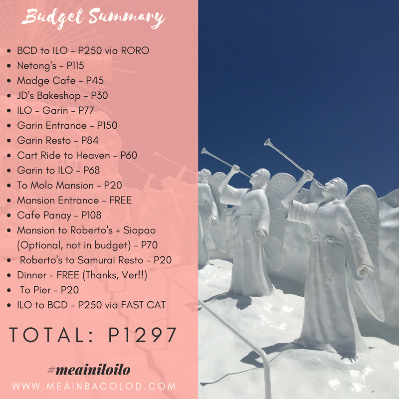 Iloilo Travel Guide For P1300 - Mea in Bacolod - Total Budget