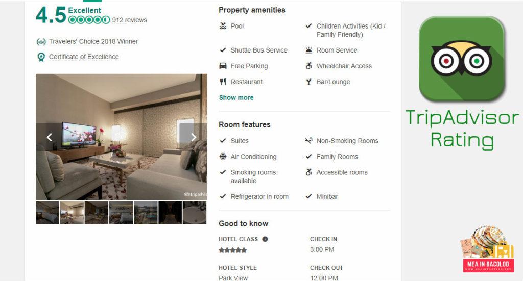 TripAdvisor Rating - Nobu Hotel Manila - Mea in Bacolod