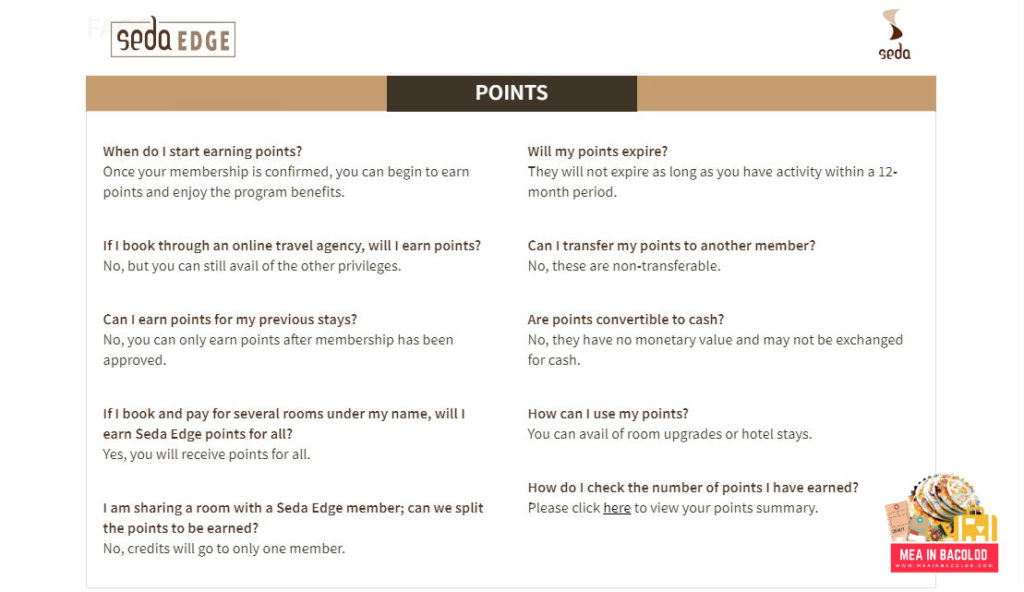 FAQ Seda Edge Points