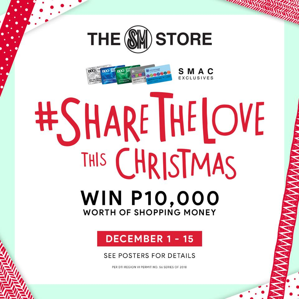 SM Department Store - Online Holiday Contest - Win Shopping Money | Mea in Bacolod