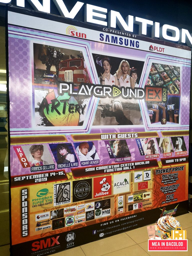 PlaygroundEX Schedule and Features | Mea in Bacolod
